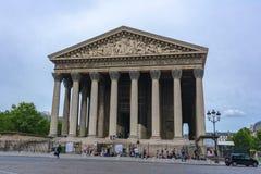 Madeleine Church La Madeleine i Paris, Frankrike royaltyfria bilder