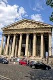 Madeleine Church in Parijs stock foto