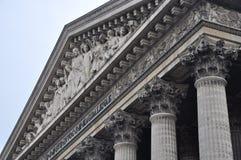 Madeleine Church - Parijs, Frankrijk Royalty-vrije Stock Foto's