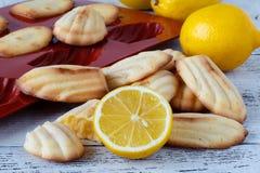 Madeleine com limão Imagem de Stock