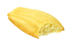 Madeleine cookie that has been bitten Royalty Free Stock Photo