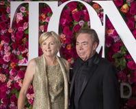 Madeleine Gurdon and Andrew Lloyd Webber at 2018 Tony Awards Stock Photos
