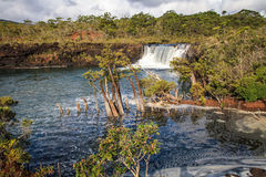 Madeleine Waterfall, South of Grande Terre, New Caledonia. At the heart of the Grand Sud Far South, and deep in the provincial reserve of the same name, in the royalty free stock image