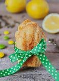 Madeleines del limón de las galletas Fotografía de archivo