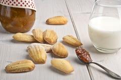 Madeleines - duftende Kekse der französischen orange Blume Lizenzfreies Stockbild