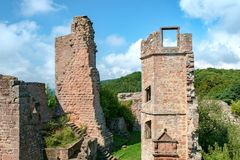 Madenburg Castle Ruin. At Madenburg castle ruin near the town of Landau in the Palatinate region of Germany Stock Photo