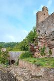 Madenburg Castle Ruin. At Madenburg castle ruin near the town of Landau in the Palatinate region of Germany Royalty Free Stock Photos