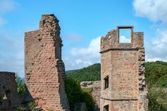 Madenburg Castle Ruin. At Madenburg castle ruin near the town of Landau in the Palatinate region of Germany Royalty Free Stock Photo