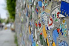 Mader hermoso auténtico de la mano de la pared imagenes de archivo