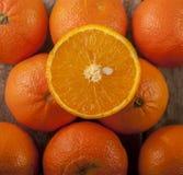 Madera anaranjada de la fruta imagen de archivo