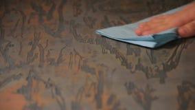 Madera apenada natural Fondo de madera de Grunge metrajes