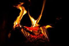 Madera ardiente Fotografía de archivo libre de regalías