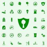 madera bajo icono del verde de la protección sistema universal de los iconos de Greenpeace para el web y el móvil stock de ilustración