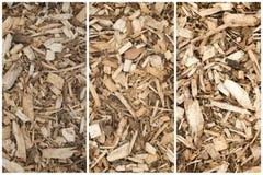 Madera Chips Collage For Landscaping - visión superior de la corteza - fondo abstracto imágenes de archivo libres de regalías