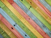 Madera colorida vieja de la pintura Foto de archivo libre de regalías