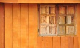 Madera con la ventana Imágenes de archivo libres de regalías