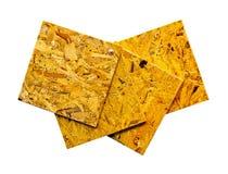 Madera contrachapada reciclada aislada Imagen de archivo libre de regalías
