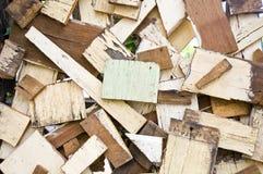 Madera contrachapada vieja del azulejo Fotografía de archivo