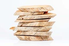 Madera cortada en pedazos Foto de archivo libre de regalías