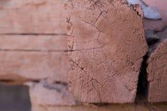 Madera cuadrada del registro Imagen de archivo