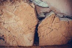 Madera cuadrada del registro Foto de archivo libre de regalías
