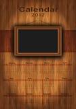 madera de 2012 calendarios, marco de la foto Imagen de archivo