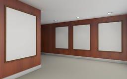 Madera de Art Gallery Perspective y de la pared del marco Imagen de archivo