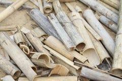 Madera de bambú vieja Fotografía de archivo