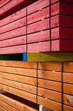 Madera de construcción coloreada foto de archivo