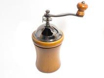 Madera de la amoladora de café Fotografía de archivo libre de regalías