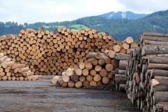 Madera de la madera de construcción Imagen de archivo libre de regalías