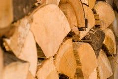 Madera de la madera de construcción del primer foto de archivo