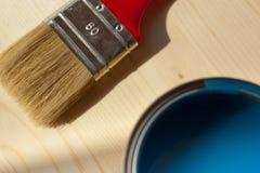 Madera de la pintura en color azul Fotografía de archivo libre de regalías