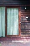 Madera de la puerta Foto de archivo libre de regalías