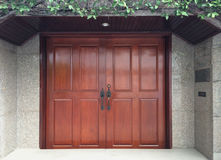 Madera de la puerta Imagen de archivo libre de regalías
