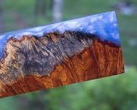 madera de la resina de epoxy imágenes de archivo libres de regalías