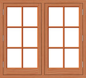 Madera de la ventana Fotografía de archivo