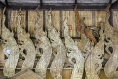 Madera de talla de madera del Naga imagen de archivo