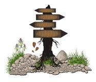 Madera del árbol de la tarjeta Fotografía de archivo