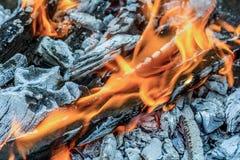 Madera del fuego Imagen de archivo