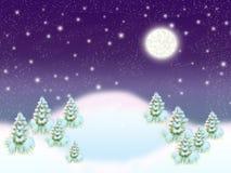 Madera del invierno. Stock de ilustración