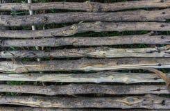 Madera del puente en granja Foto de archivo
