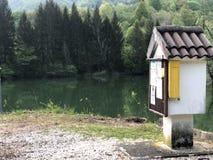 Madera del río de la caja Foto de archivo libre de regalías