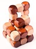 madera del rompecabezas 3D Fotos de archivo