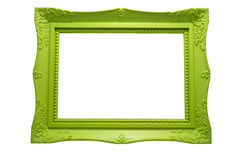 Madera del verde del marco Foto de archivo libre de regalías