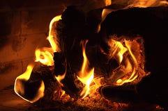 Madera en el fuego 2 Imagen de archivo
