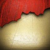 Madera en la pared de oro Foto de archivo libre de regalías