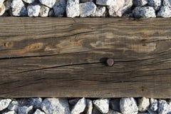 Madera en piedra Fotos de archivo