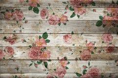 Madera floral Fotografía de archivo