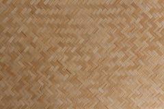 Madera, fondo de mimbre de la textura de los bambúes Imagen de archivo libre de regalías